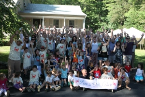 Family and friends gathered with Katie and Noah for the Love Is Out There Campaign Kick Off event! August 2014